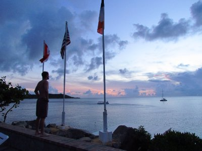 Watching the sunset over Baie de Marigot