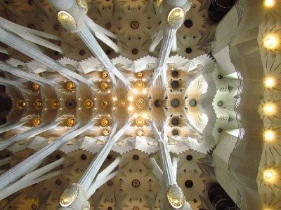 Gaudi's Sagrada Familia Ceiling