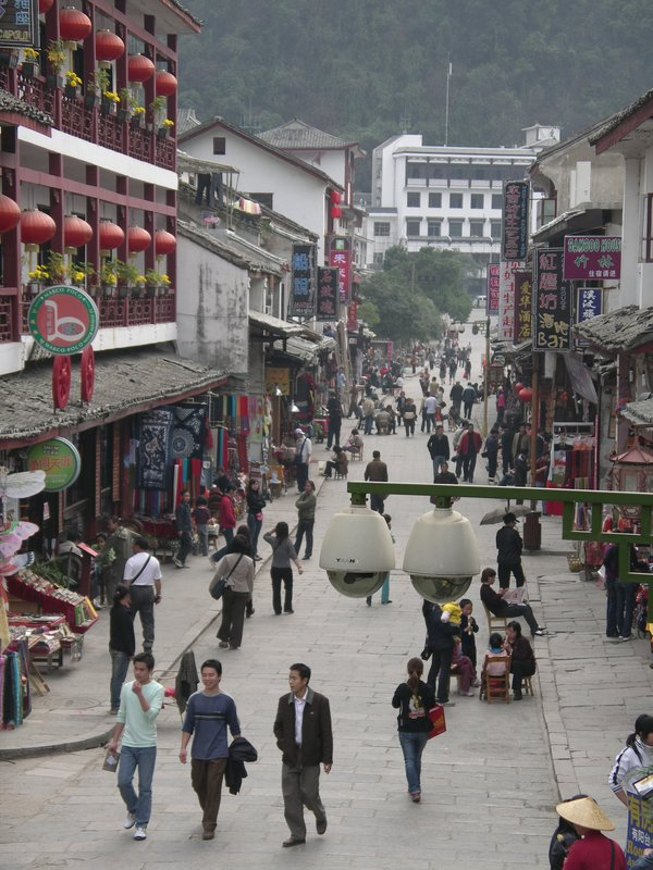 Downtown Yangshuo on a lazy day