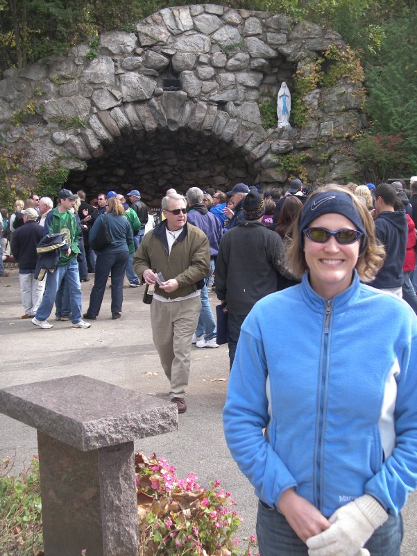 Nadine in front of the Grotto