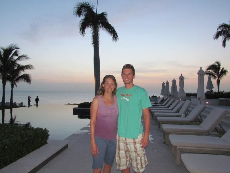 Having a drink at the swankiest spot on Anguilla, the Viceroy