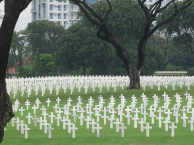 American cemetery graves