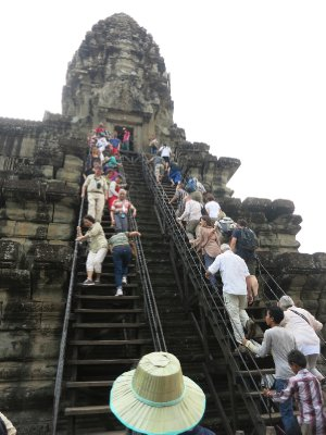 Climbing at Angkor Wat