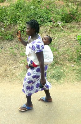 Ghanian woman and child