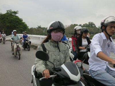 Motor bike riders