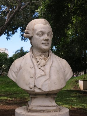 Pierr Poivre, who established the garden in Saint Denis, capital of Mauritius