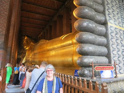 Reclining Buddha's feet