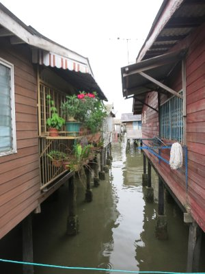 Water village street.