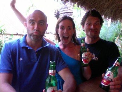 Having fun in Bali with Bower