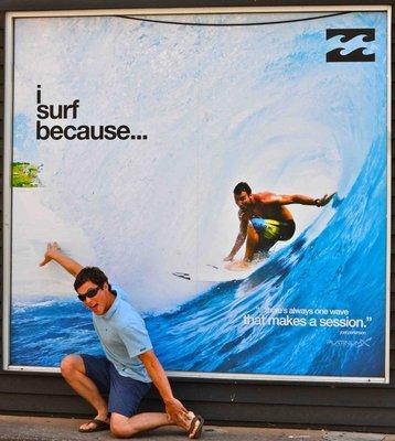 Lukin surfing in Darwin