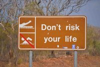 Croc Sign, Kakadu National Park, NT