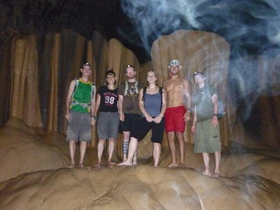 Group photo in the Caves