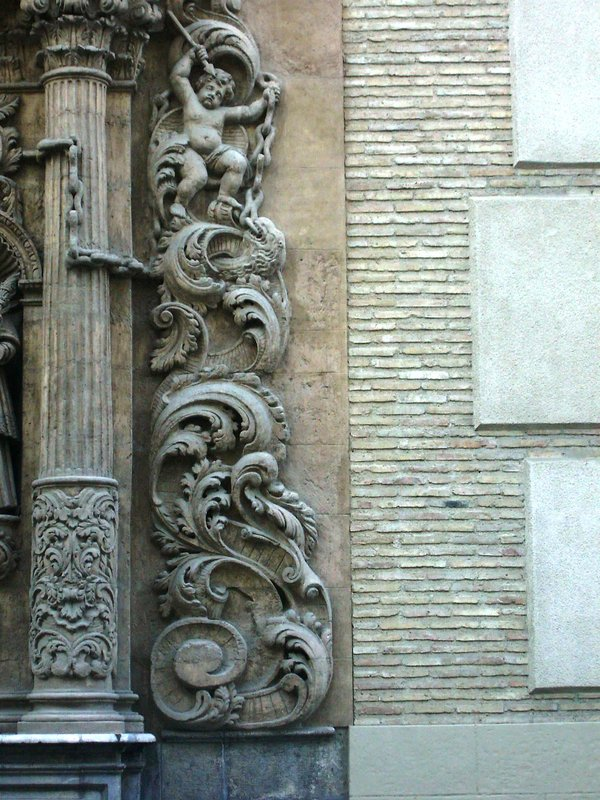 Murcia, detail from a church