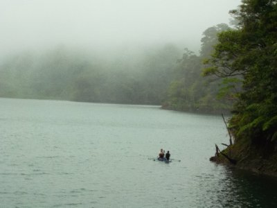 Beautiful lake, misty but atmospheric. Twin Lakes, Dumaguete.