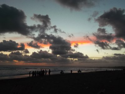 Sunset at the beach in Pangandaran