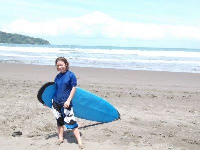 Learning to surf in Pangandaran
