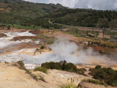 Volcanic crater at the Dieng Plateau