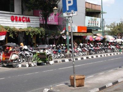 Soooo many motorbikes - in Jogja