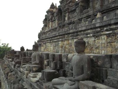 Buddhas at Borobudur
