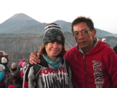 Me with Herry, our friend /guide for the Bromo trip