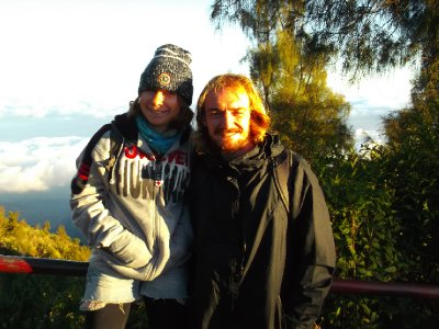 Kevin and I at sunrise at Bromo