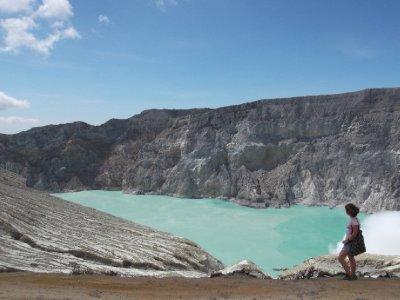 The spectacular crater lake at Kawah Ijen