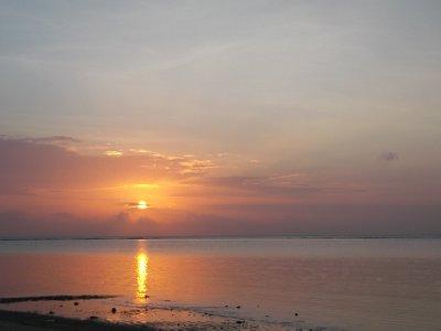 Sunrise at Bama beach in the national park