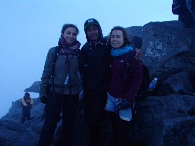 at ze top with our guide :)