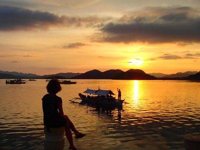 sunset in Coron