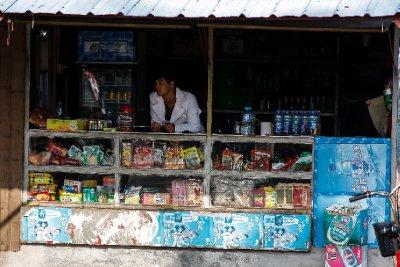 Qi'Ao at the bus stop