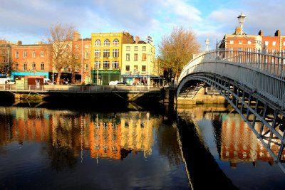 Sunrise on the Liffey - Dublin Ireland
