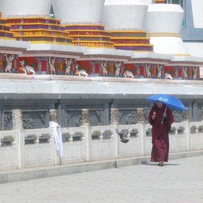 Stupas Kumbum Monastery