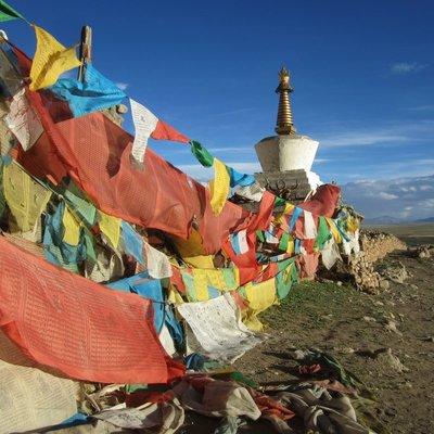Stupa at pass
