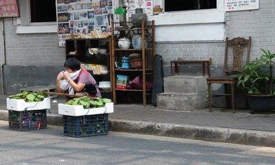 Vendor selling lotus seeds