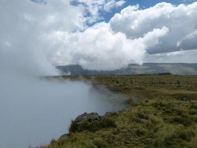 Simien Mountains fog