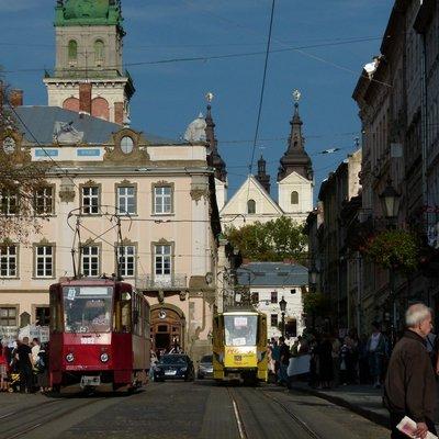 Rynok Square tram