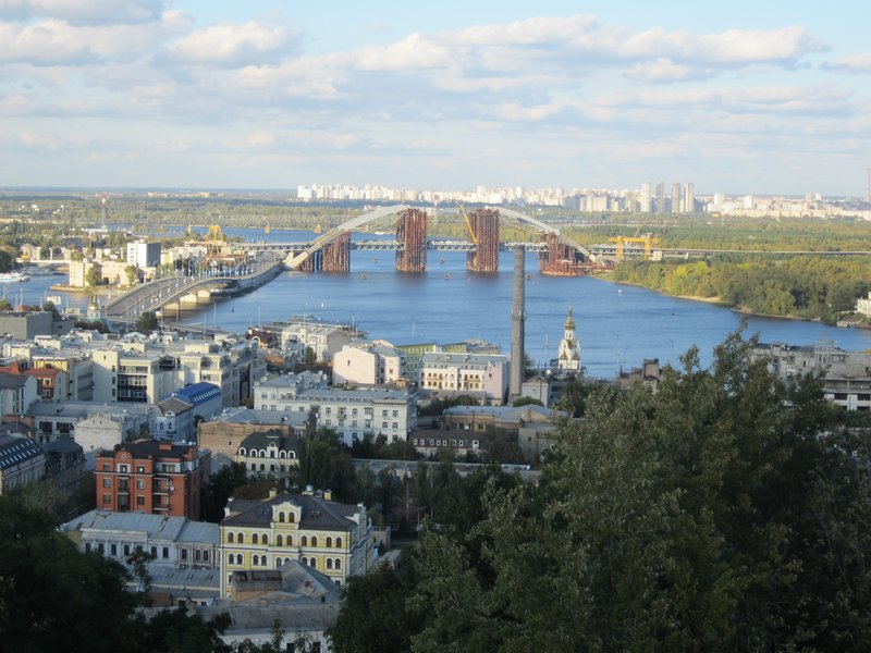 View of Dnipro River