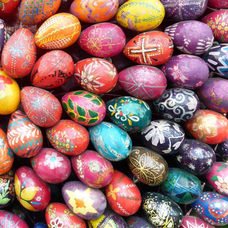 Wooden Ukrain eggs
