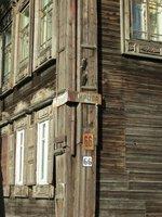 Corner wooden building