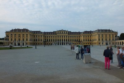 front of Schonbrunn Palace