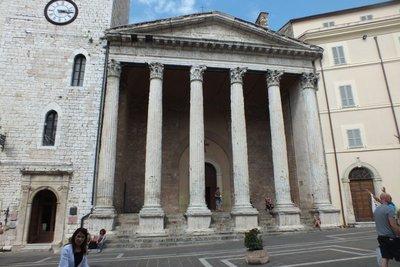 Roman forum, now a church