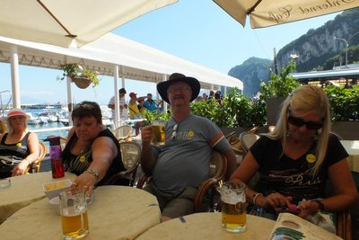 lunch on Isle of Capri