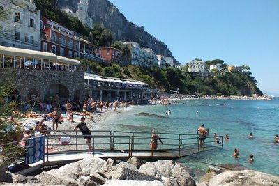 only beach on Capri