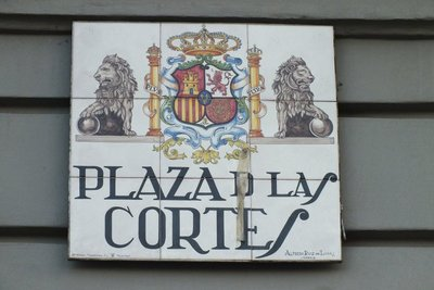 Madrid street signs