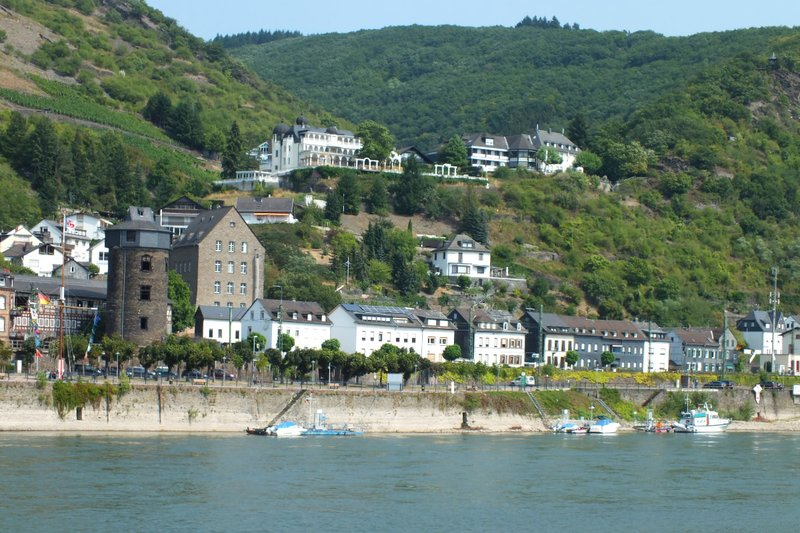 view from cruise boat on Rhine River