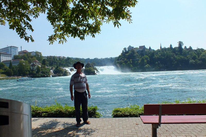 me at Rhine falls