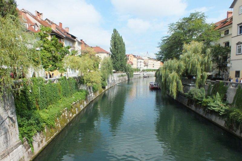 Ljubljanica River running throgh Lubj