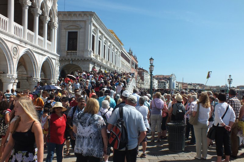 Crowds at Venice