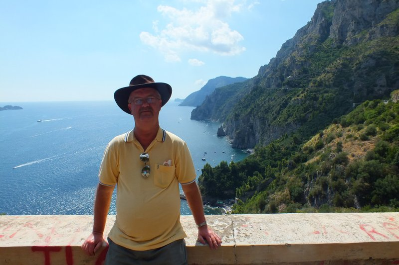 me on Amalfi coastline