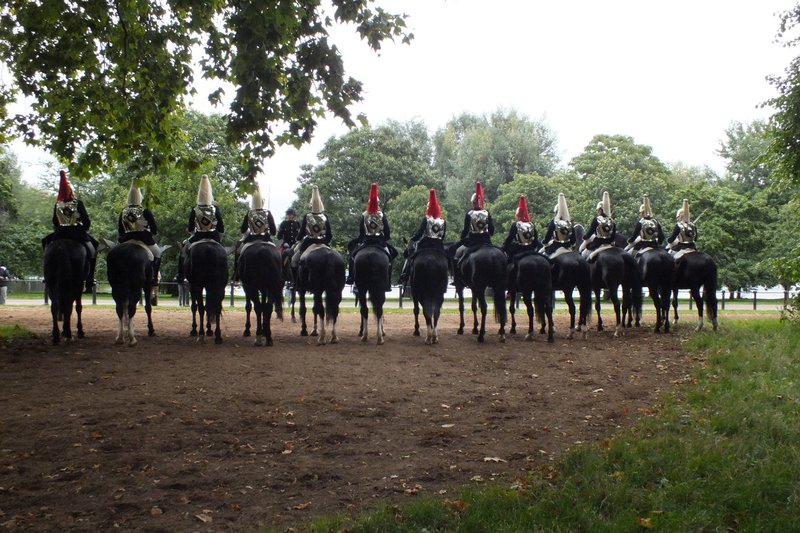 horse guards in Hyde Park